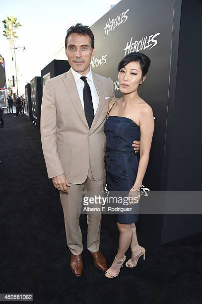Actor Rufus Sewell and Ami Komai attend the Hercules premiere held at TCL Chinese Theatre on July 23 2014 in Hollywood California