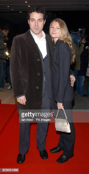 Actor Rufus Sewell and Amy Gardner arriving at Sanderson London for the launch of triggerstreetcom