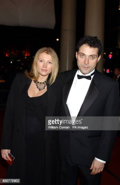 Actor Rufus Sewell and Amy Gardner arriving at the Theatre Royal Haymarket London where Dame Judi Dench will receive her Academy Fellowship on her...