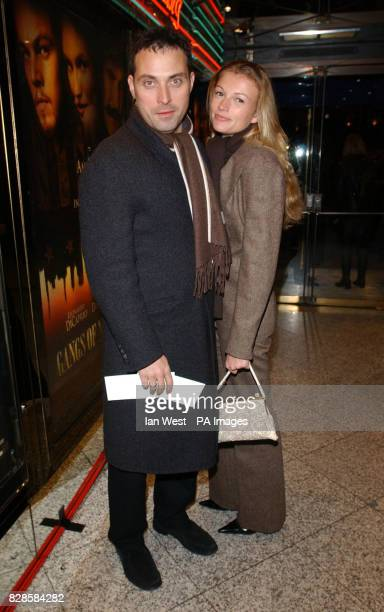Actor Rufus Sewell and Amy Gardner at The Empire Cinema Leicester Square London for the UK premiere of Gangs of New York