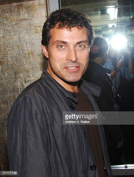 Actor Rufus Sewell attends a special screening afterparty for 'Elizabeth The Golden Age' hosted by The Cinema Society and W Magazine on October 03...