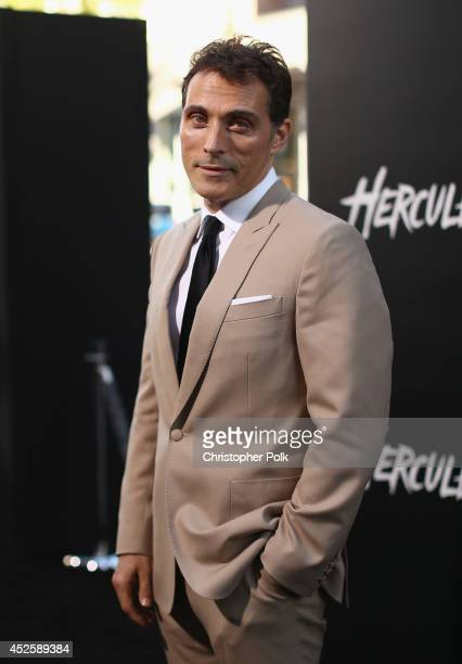 """Actor Rufus Sewell attends the premiere of Paramount Pictures' """"HERCULES"""" at TCL Chinese Theatre on July 23 2014 in Hollywood California"""