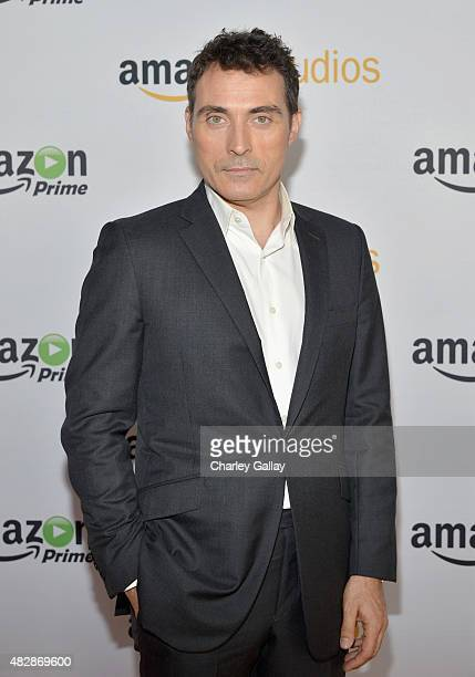 Actor Rufus Sewell attends the 'The Man In The High Castle' panel discussion at the Amazon Studios portion of the 2015 Summer TCA Tour on August 3...