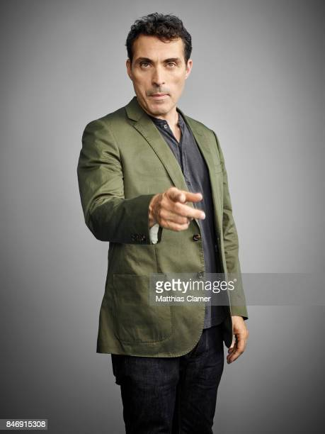 Actor Rufus Sewell from 'The Man in the High Castle' is photographed for Entertainment Weekly Magazine on July 21 2016 at Comic Con in the Hard Rock...