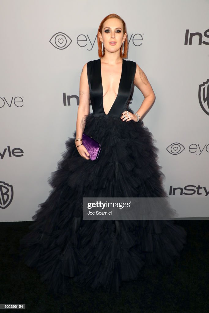 Actor Rumer Willis attends the 2018 InStyle and Warner Bros. 75th Annual Golden Globe Awards Post-Party at The Beverly Hilton Hotel on January 7, 2018 in Beverly Hills, California.