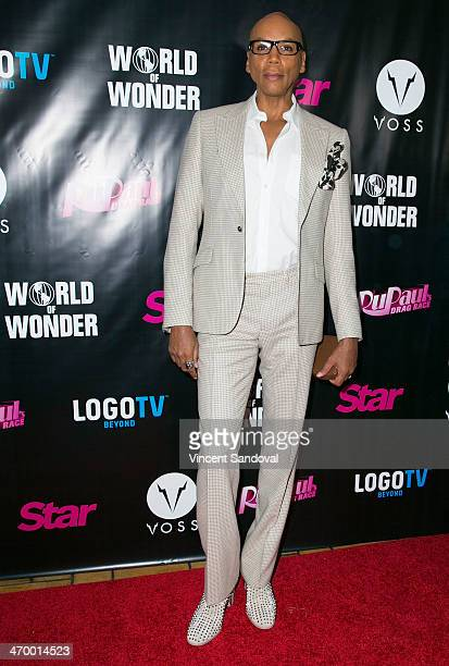 Actor RuPaul attends Logo's 'RuPaul's Drag Race' season 6 premiere party at Hollywood Roosevelt Hotel on February 17, 2014 in Hollywood, California.