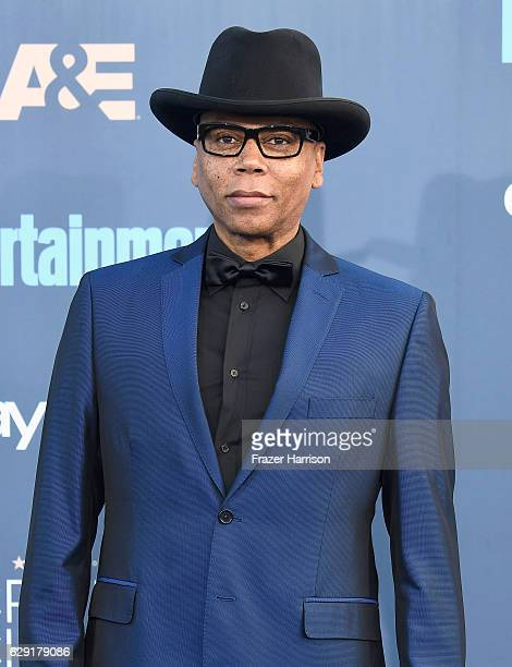 Actor RuPaul attends The 22nd Annual Critics' Choice Awards at Barker Hangar on December 11 2016 in Santa Monica California