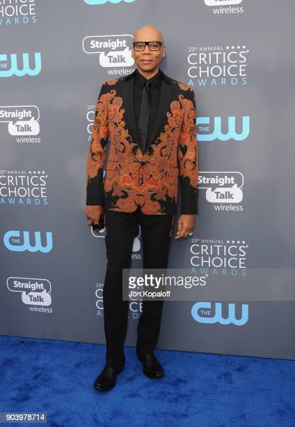Actor RuPaul attends The 23rd Annual Critics' Choice Awards at Barker Hangar on January 11 2018 in Santa Monica California