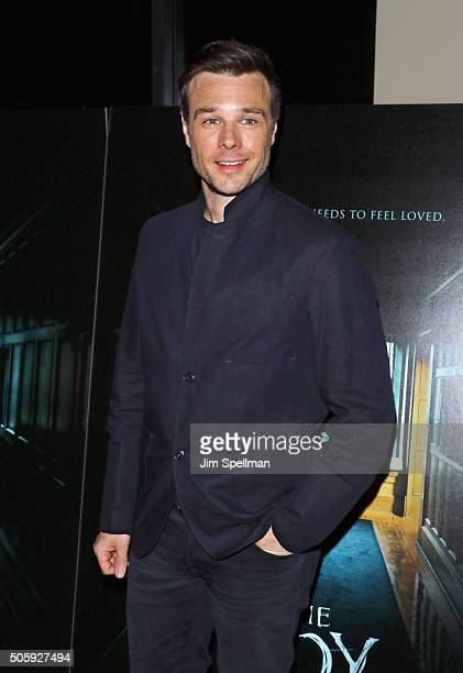 Actor Rupert Evans attends at 'The Boy' New York premiere AMC Empire on January 20 2016 in New York City