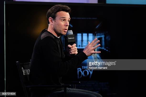 Actor Rupert Evans attends the AOL Build Speaker Series discussing 'The Boy' at AOL Studios In New York on January 19 2016 in New York City