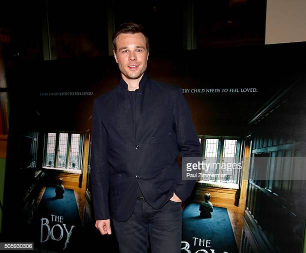 Actor Rupert Evans attends the New York Special Screening of STX's 'The Boy' at AMC Empire on January 20 2016 in New York City