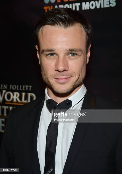 Actor Rupert Evans attends the screening of 'World Without End' presented by ReelzChannel at The Grove on October 2 2012 in Los Angeles California