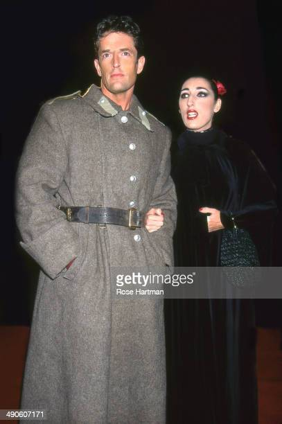 Actor Rupert Everett and actress Rossy de Palma attend an unidentified film premiere New York New York 1995