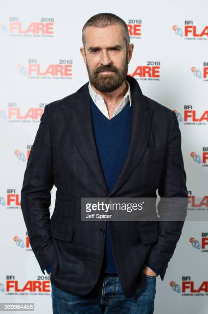 Actor Rupert Everett attends a screening of 'The Happy Prince' during the BFI FLARE LGBTQ Film Festival 2018 at BFI Southbank on March 28 2018 in...