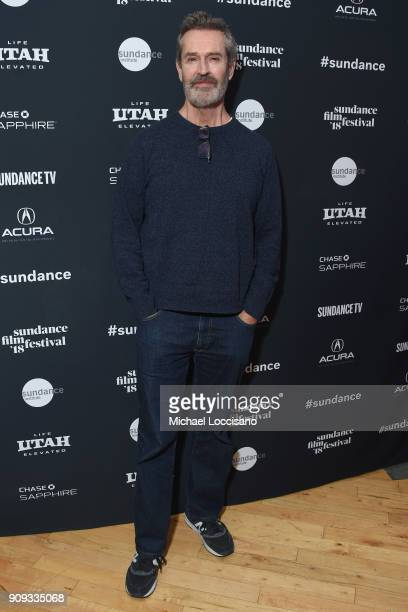 Actor Rupert Everett attends Cinema Cafe With Ethan Hawke And Rupert Everett during the 2018 Sundance Film Festival at Filmmaker Lodge on January 23...