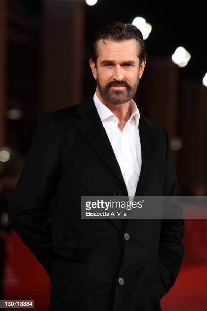 Actor Rupert Everett attends the 'Hysteria' Premiere during the 6th International Rome Film Festival at Auditorium Parco Della Musica on October 28...