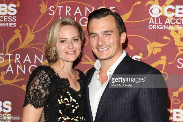 Actor Rupert Friend and Aimee Mullins attend the premiere of CBS All Access' 'Strange Angel' at Avalon on June 4 2018 in Hollywood California