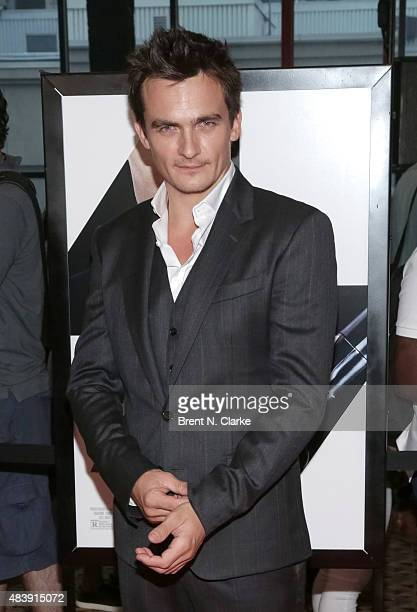 Actor Rupert Friend arrives for 'Hitman Agent 47' New York City fan event held at AMC Empire 25 theater on August 13 2015 in New York City