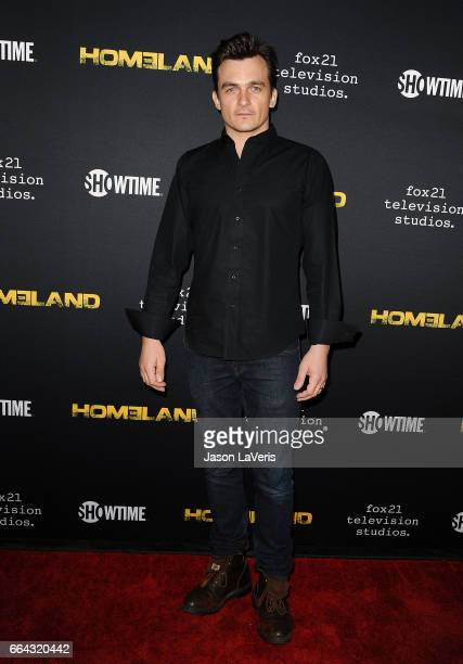 Actor Rupert Friend attends the ATAS Emmy screening of Showtime's 'Homeland' at NeueHouse Hollywood on April 3 2017 in Los Angeles California