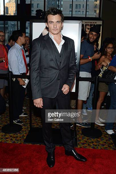 Actor Rupert Friend attends the New York premiere of 'Hitman Agent 47' at AMC Empire 25 theater on August 13 2015 in New York City