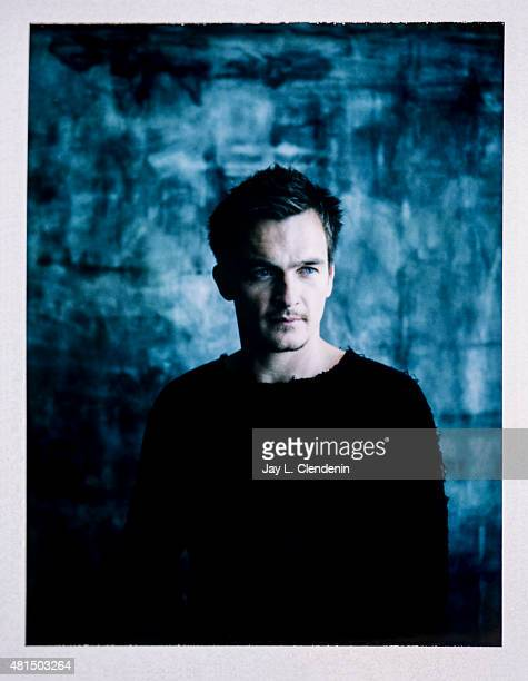 Actor Rupert Friend of 'Hitman Agent 47' is photographed on polaroid film at ComicCon International 2015 for Los Angeles Times on July 9 2015 in San...
