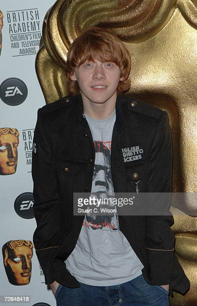 Actor Rupert Grint arrives for the British Academy Children's Film Television Awards 2006 at the Hilton Park Lane on November 26 2006 in London...