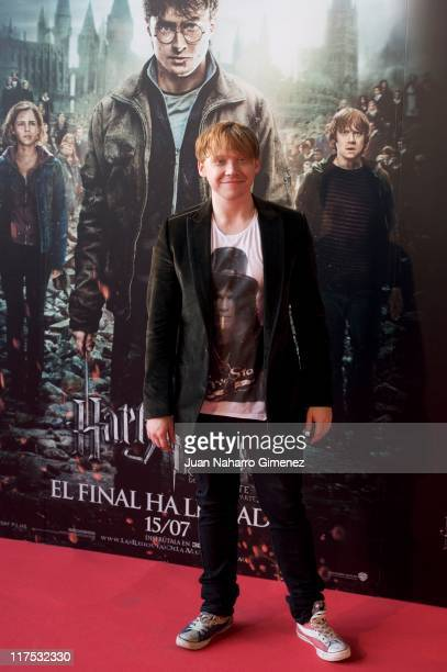 Actor Rupert Grint attends 'Harry Potter and The Deathly Hallows Part 2' premiere at Kinepolis Cinema on June 27 2011 in Madrid Spain