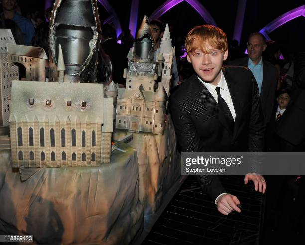 Actor Rupert Grint attends the New York premiere of 'Harry Potter And The Deathly Hallows Part 2' at American Museum of Natural History on July 11...