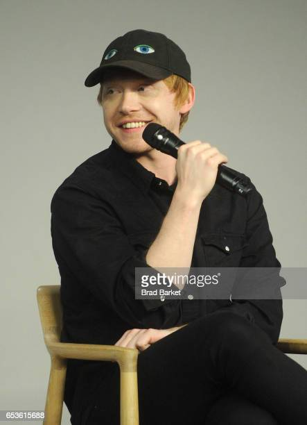 Actor Rupert Grint discusses 'Snatch' at Apple Store Soho on March 15 2017 in New York City