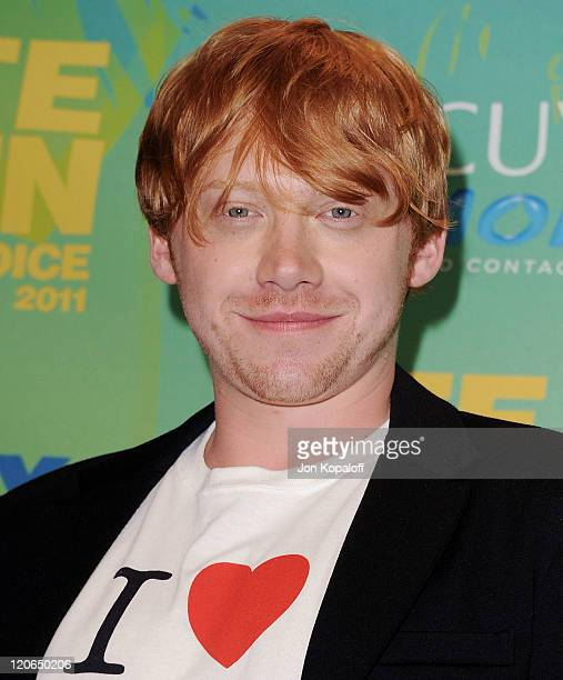 Actor Rupert Grint poses at the 2011 Teen Choice Awards Press Room at Gibson Amphitheatre on August 7, 2011 in Universal City, California.