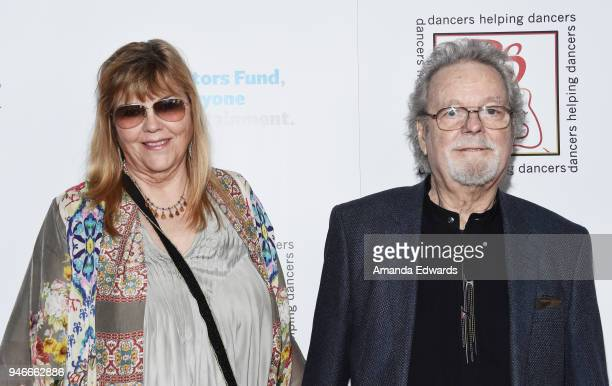Actor Russ Tamblyn and Bonnie Murray Tamblyn arrive at the 31st Annual Gypsy Awards Luncheon at The Beverly Hilton Hotel on April 15, 2018 in Beverly...