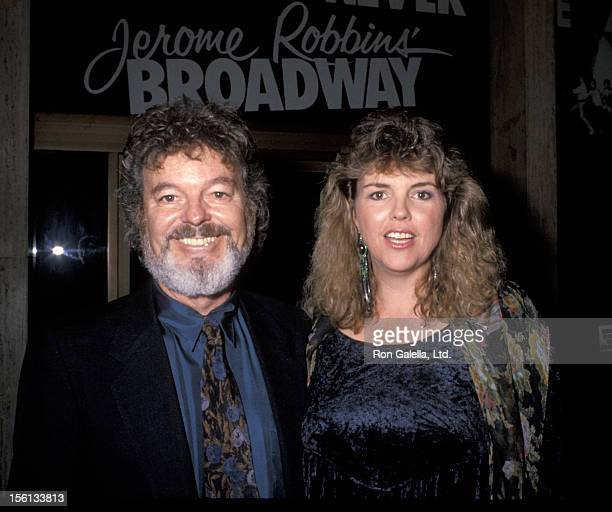 Actor Russ Tamblyn and wife Bonnie Murray attending 'Night For Human Rights Gala Honoring Jerome Robbins' on October 5 1990 at the Shubert Theater in...