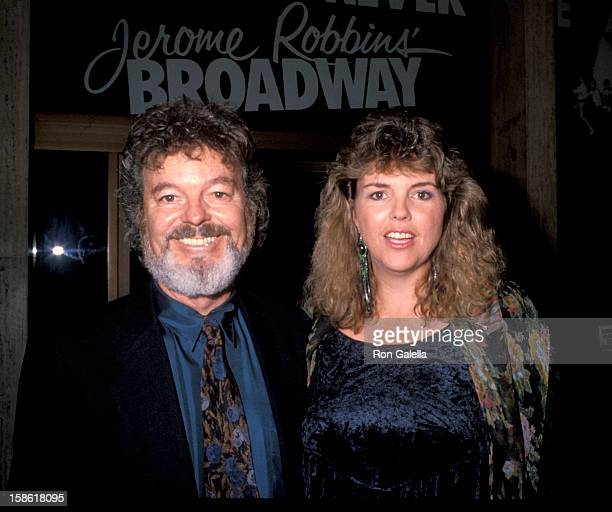 """Actor Russ Tamblyn and wife Bonnie Murray attending """"Night For Human Rights Gala Honoring Jerome Robbins"""" on October 5, 1990 at the Shubert Theater..."""