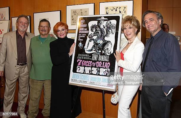 Actor Russ Tamblyn animator Bob Baker actress Ann Robinson actress Barbara Eden and director Joe Dante attend AMPAS' 'George Pal Discovering the...