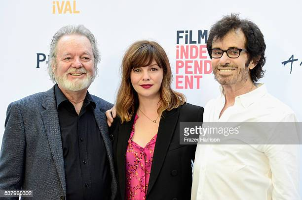 Actor Russ Tamblyn director/producer/cowriter/actress Amber Tamblyn and songwriter/dancer George Chakiris attend the LA Film Festival premiere of...
