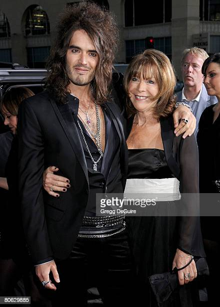 Actor Russell Brand and mom arrive at Universal Pictures' World Premiere of Forgetting Sarah Marshall on April 10 2008 at Grauman's Chinese Theater...
