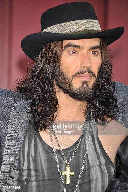 Actor Russell Brand arrives at the world premiere of Rock of Ages held at Grauman's Chinese Theater in Hollywood
