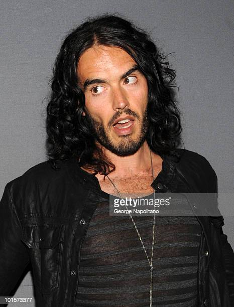 Actor Russell Brand attends Meet The Actors Get Him To The Greek at the Apple Store Soho on June 2 2010 in New York City