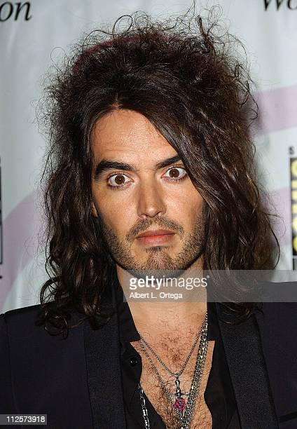 Actor Russell Brand attends the 2008 WonderCon day 1 at the Moscone Center South on February 22 2008 in San Francisco California