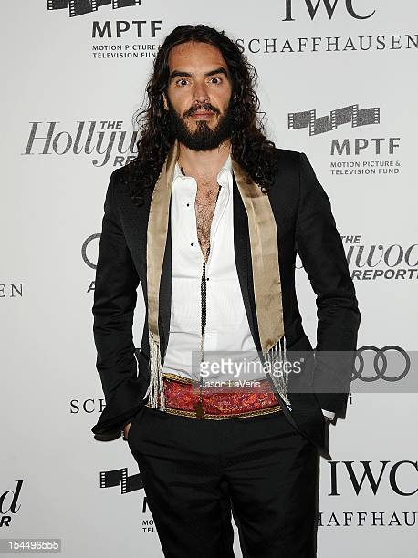 Actor Russell Brand attends the 2nd annual Reel Stories Real Lives benefiting the Motion Picture Television Fund at Milk Studios on October 20 2012...