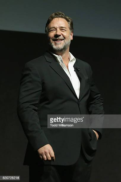 """Actor Russell Crow speaks onstage during CinemaCon 2016 Warner Bros Pictures Invites You to """"The Big Picture"""" an Exclusive Presentation Highlighting..."""