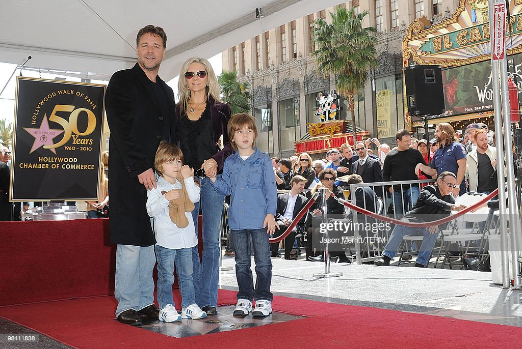 Russell Crowe Honored On The Hollywood Walk Of Fame : News Photo