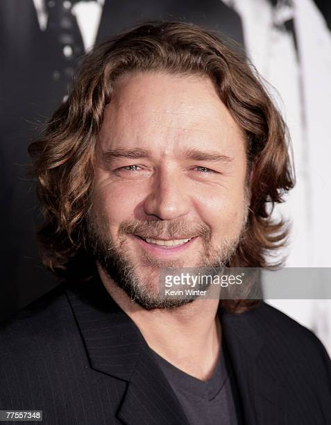 Actor Russell Crowe arrives at an industry screening of Universal Picture's and Imagine Entertainment's American Gangster at the ArcLight Cinemas on...