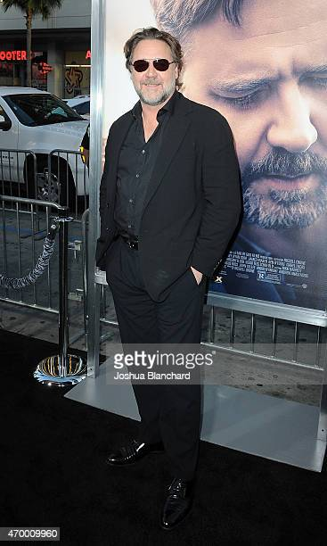Actor Russell Crowe arrives at the premiere of Warner Bros Pictures' 'The Water Diviner' at TCL Chinese Theatre on April 16 2015 in Hollywood...
