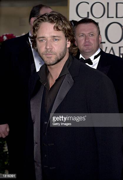 Actor Russell Crowe attends the 58th Annual Golden Globe Awards held at the Beverly Hills Hotel January 21 2001 in Beverly Hills CA
