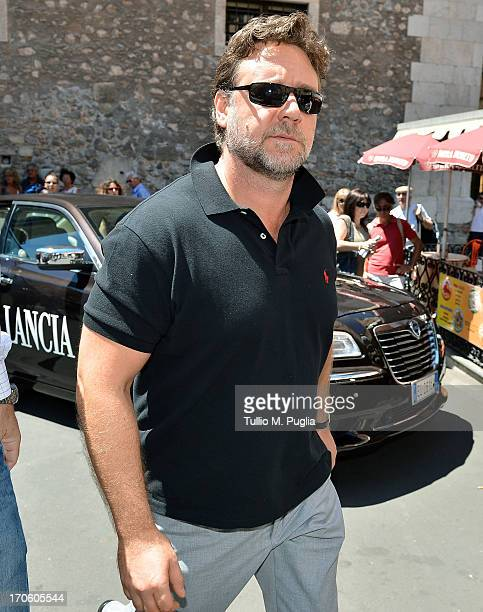 Actor Russell Crowe attends the 59th Taormina Film Fest on June 15 2013 in Taormina Italy