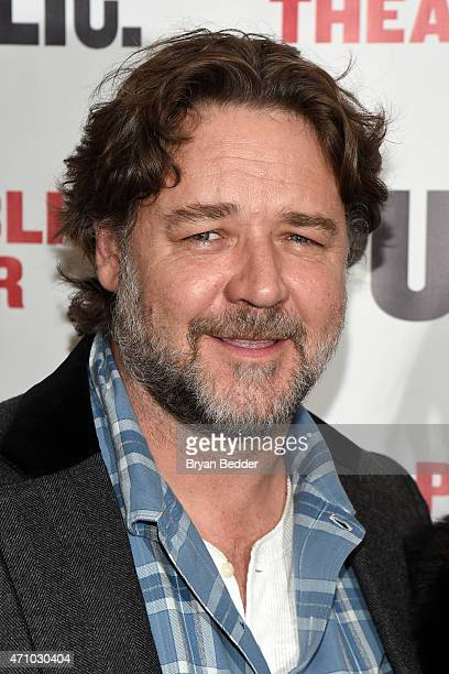 Actor Russell Crowe attends the 'Grounded' Party at The Public Theater on April 24 2015 in New York City