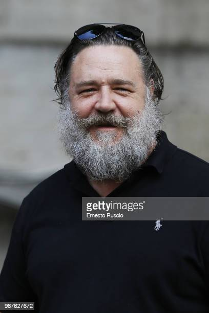 Actor Russell Crowe attends the 'Il Gladiatore In Concerto' presentation at Teatro Euclide on June 5 2018 in Rome Italy