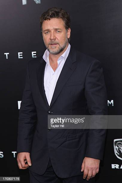 Actor Russell Crowe attends the Man Of Steel World Premiere at Alice Tully Hall at Lincoln Center on June 10 2013 in New York City