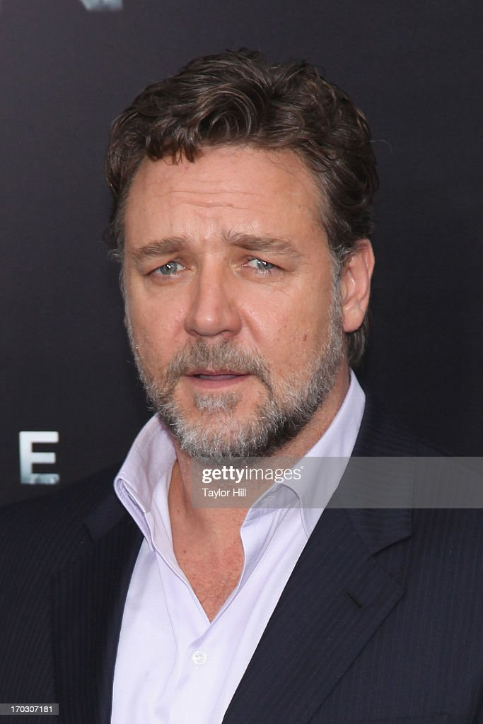 Actor Russell Crowe attends the 'Man Of Steel' World Premiere at Alice Tully Hall at Lincoln Center on June 10, 2013 in New York City.